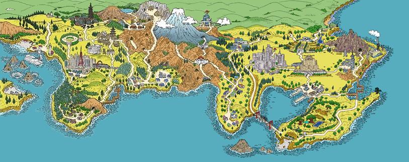 Pokémon, Mapa de Kanto