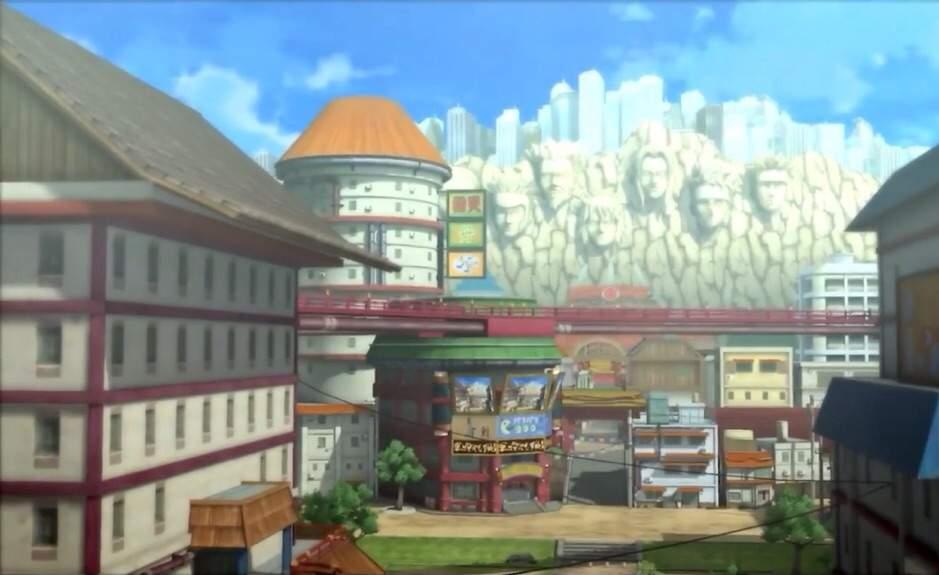 Konoha, Anime: Naruto