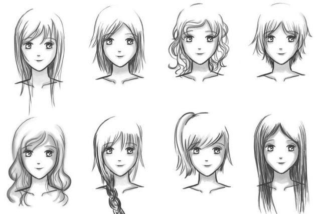 Dibujar Cabello Anime Manga