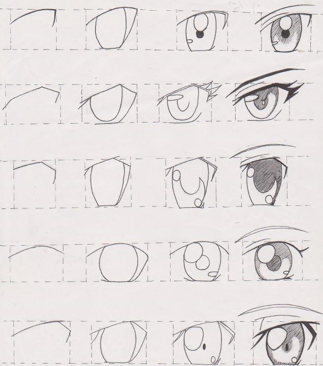Dibujar Ojos Anime Manga